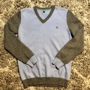 United Colors of Benetton V-Neck Wool Sweater